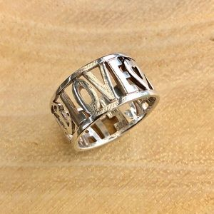 Ring Sterling Silver peace hope and love